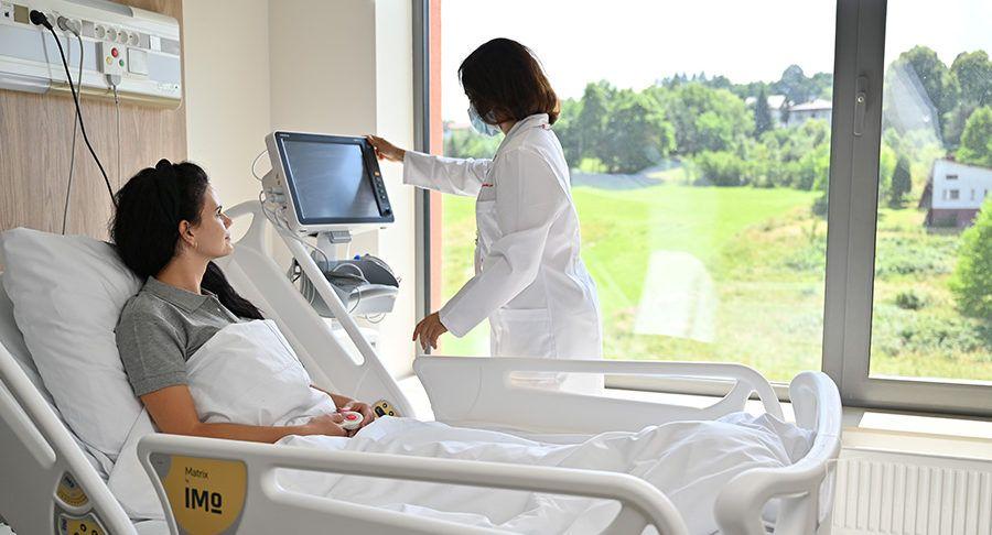 Pokój pacjenta na oddziale kardiologii