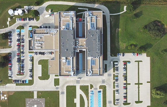 Szpital Żywiec - widok z lotu ptaka